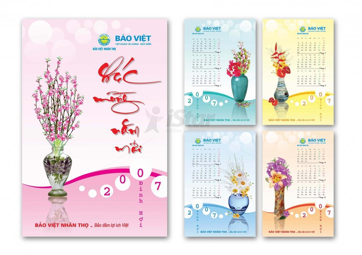 Một số mẫu thiết kế lịch và in lịch của iStar
