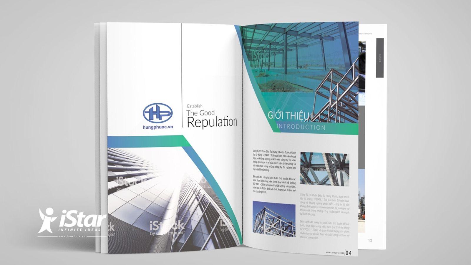 Thiết kế catalogue công ty Cổ phần đầu tư Hưng Phước