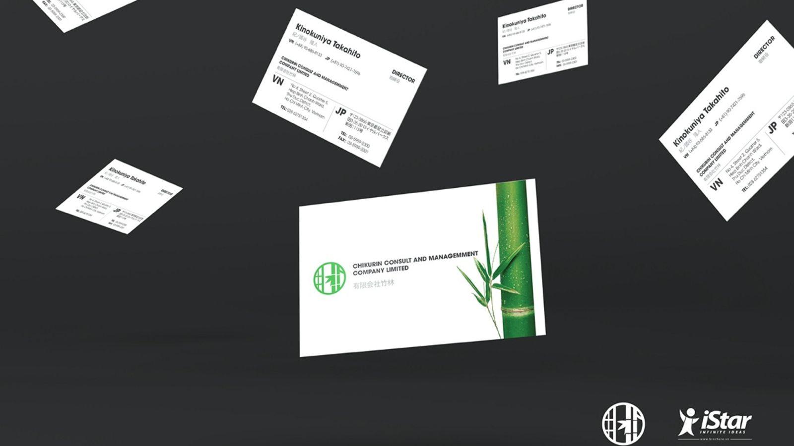 Thiết kế name card Công Ty Tnhh Tư Vấn Và Quản Lý Chikurin