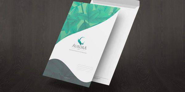 Thiết kế bộ nhận diện thương hiệu Aurora Spa